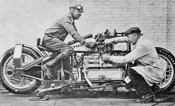 Fred Luther Tries for 300 MPH on a Plymouth - Powered Motorcycle at Bonneville