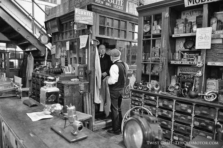 circa 1910 auto parts and bicycle store
