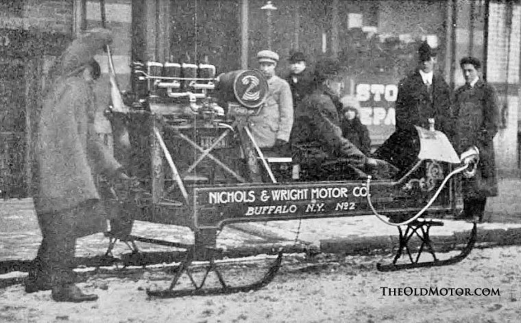 Nichols & Wright  Motor Co antique snowmobile