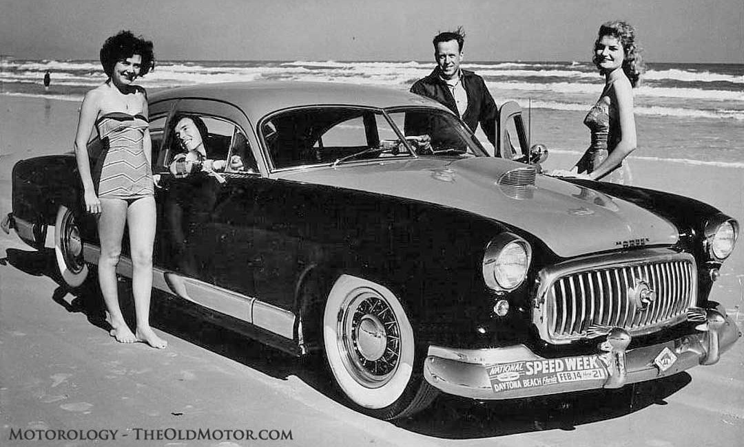 A Customized Kaiser On The Beach At Daytona Speed Week