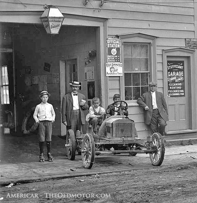 A.H. Chamber's Stuyvesant Garage, Kingston New York and a Brush car.