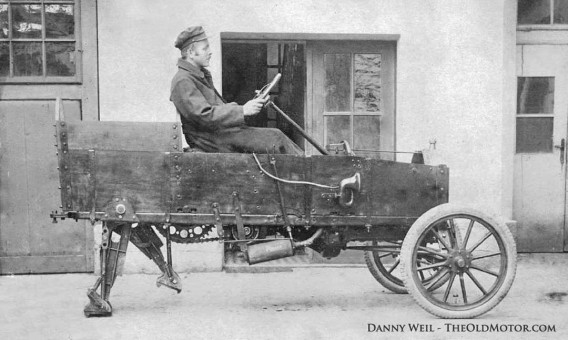 A Two-Legged Right Hand Drive Model T Ford