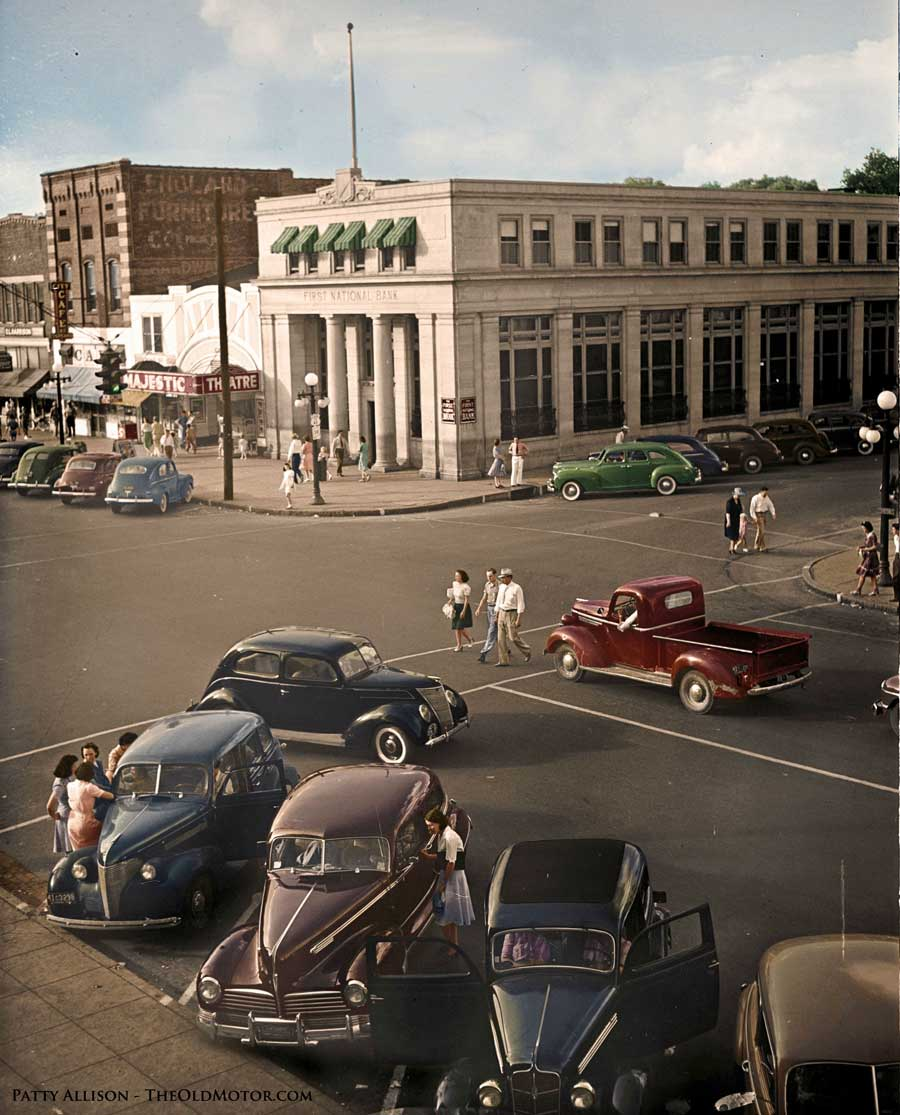 Coloring The Past – Downtown Florence Alabama 1942 | The Old Motor