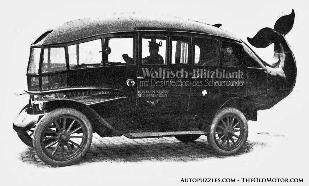The vintage Walfisch-BlitzBlank Whale Cars