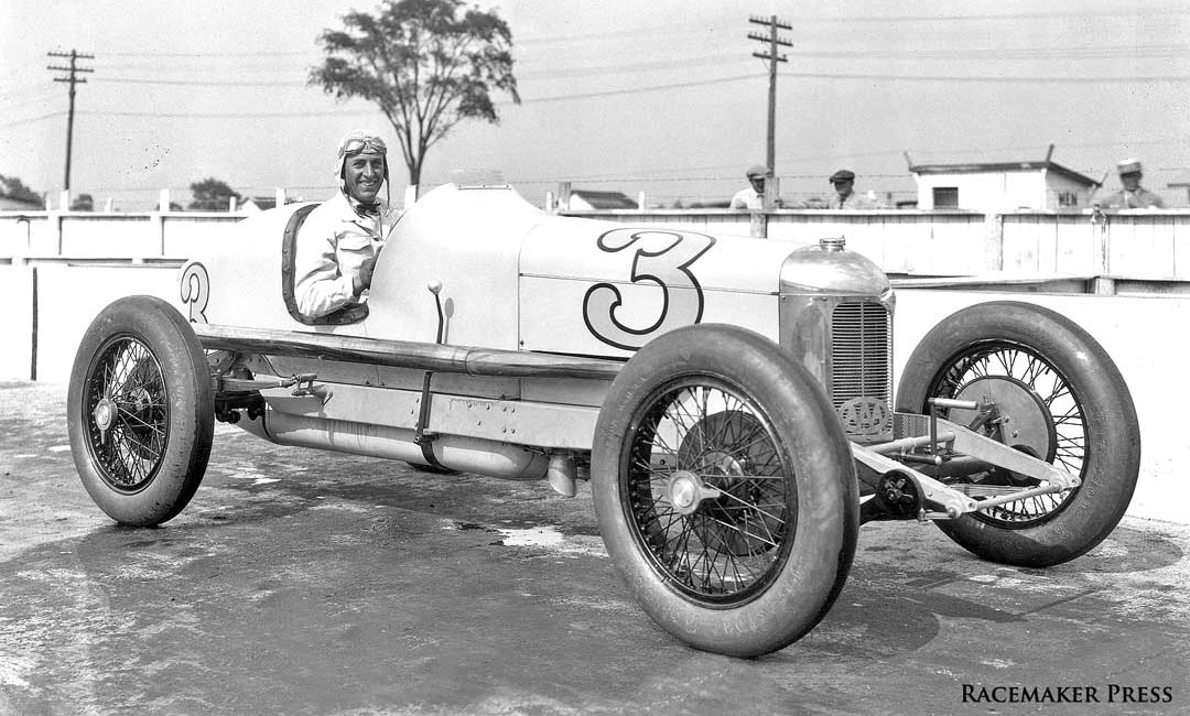 Harry Hartz Wins First Race On The Atlantic City Board track in his Miller Racing car 1926