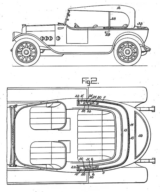 Disappearing top design 1917