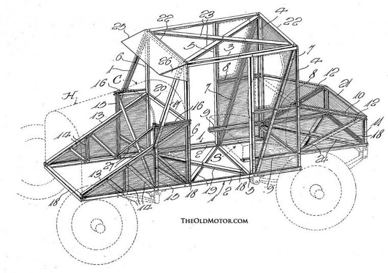 Automobile unibody structure 1922