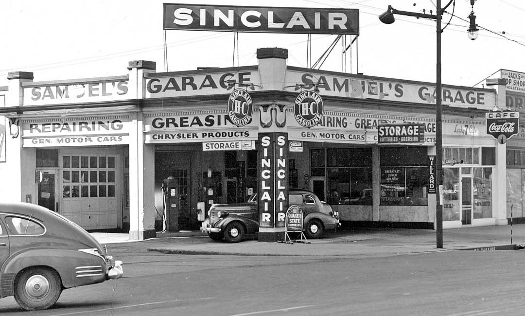 Samuel S Garage And Sinclair Service Station Salt Lake