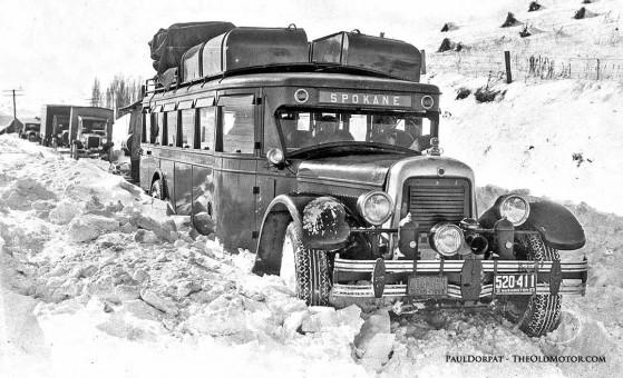 1929 Y Model Yellow Coach Bus