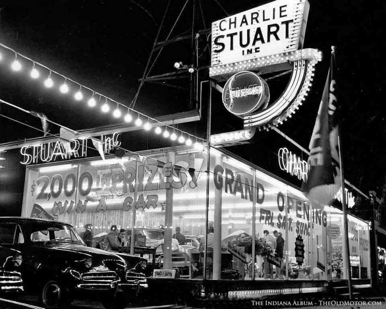 Charlie Stuart's Indianapolis Studebaker Dealership 1954