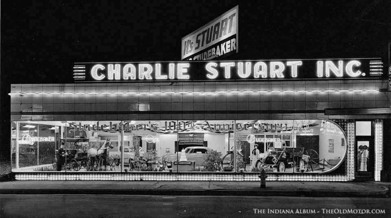 Charlie Stuart's Indianapolis Studebaker Dealership 1952