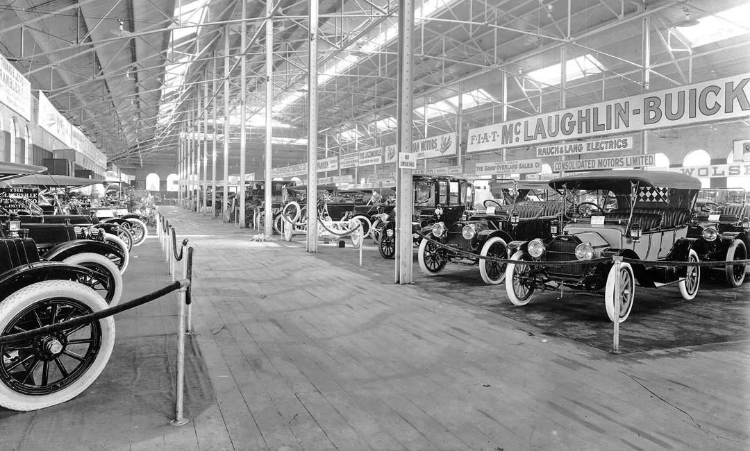 The 1912 Toronto Auto Show At Transportation Hall