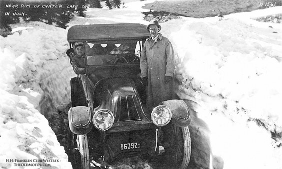 1915 Franklin Touring car at Crater Lake Oregon