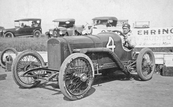 Roy La Plante And His Wisconsin Special Racing Car at the Canadian National Exposition circa 1920