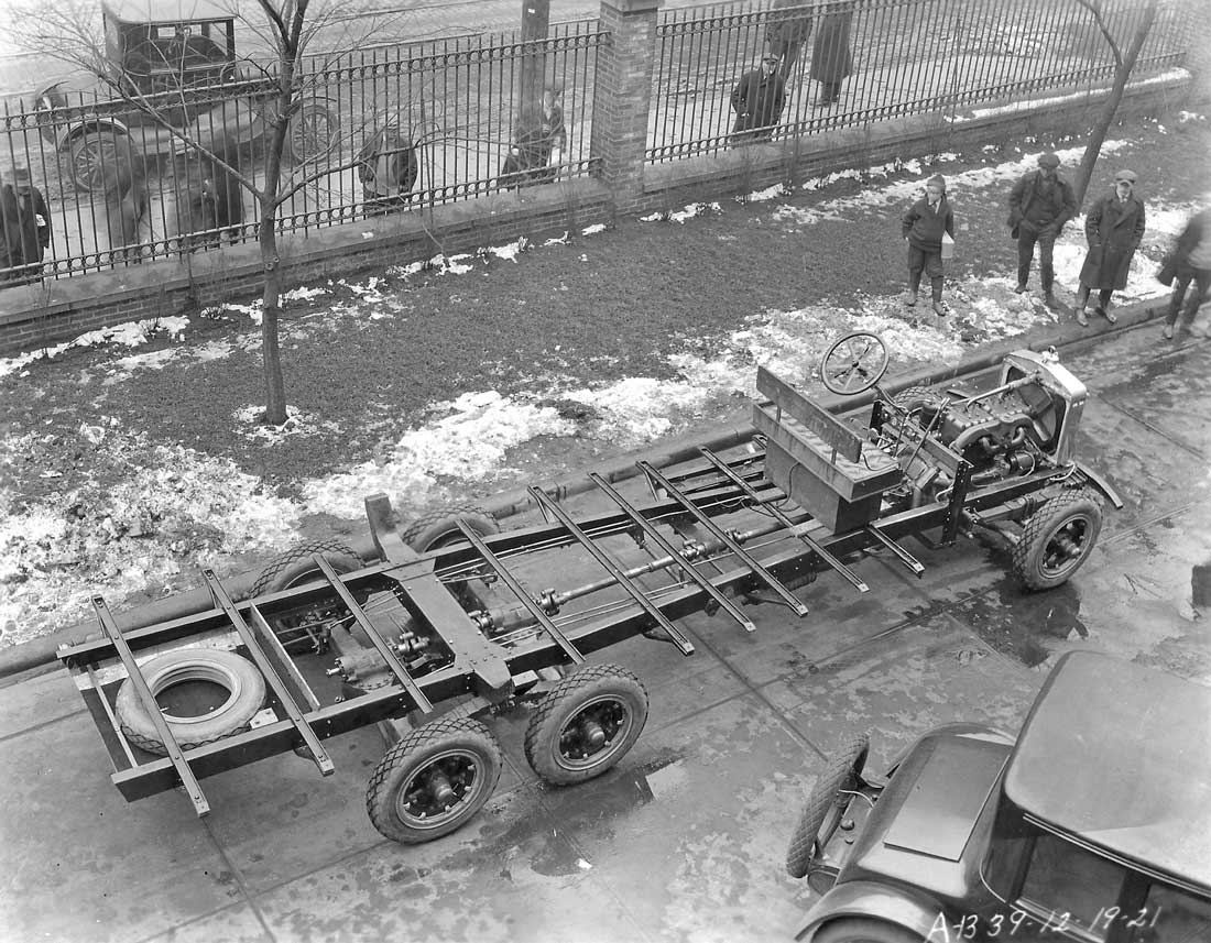 A Six Wheeled Truck Chis Displaying The Shaft Driven Tandem Drive Rear Axles Dated December 19 1921