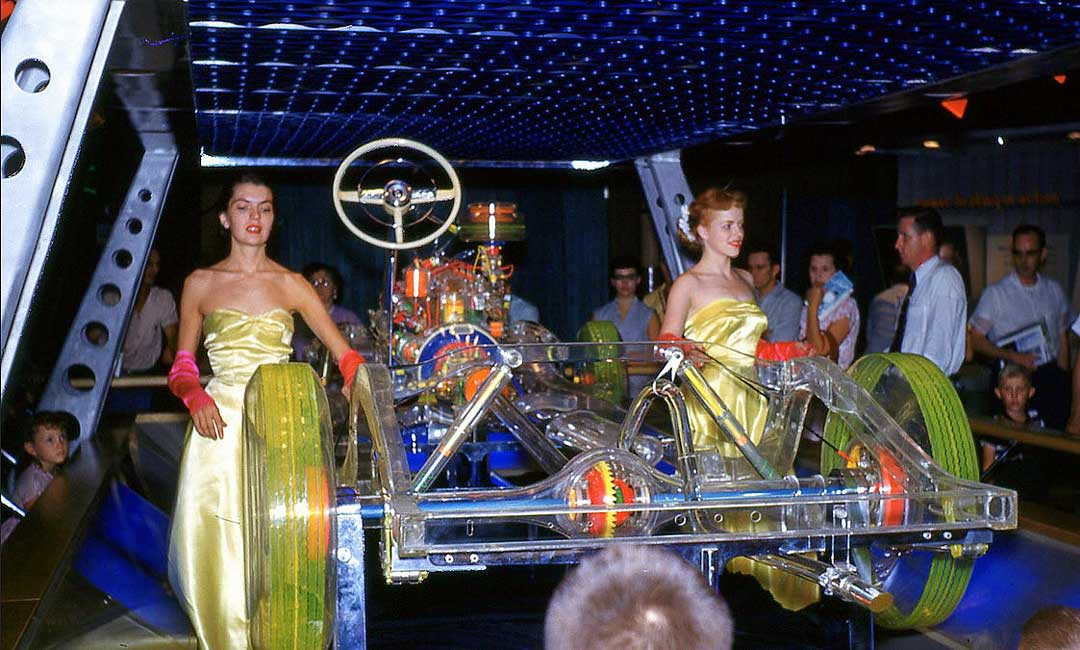 The Clear Plastic 1952 Plymouth show chassis