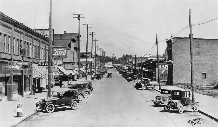 Vintage Street 1920s Street Scenes In Washington State