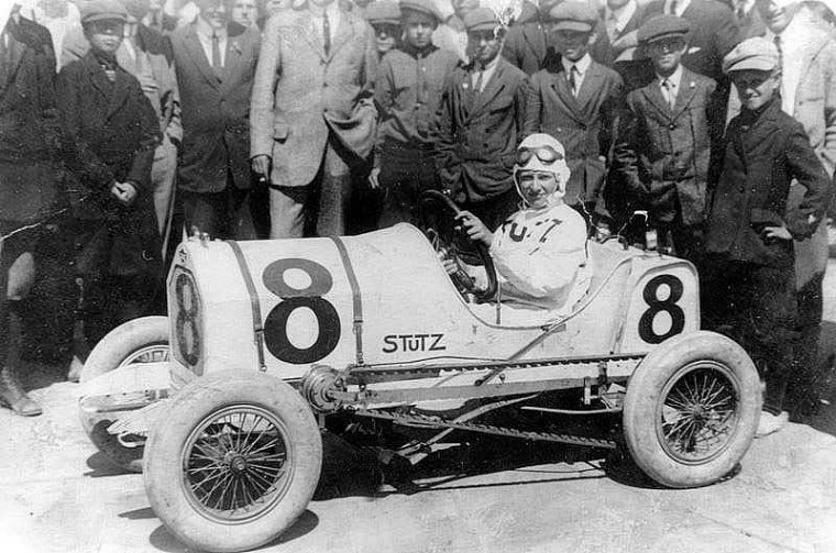 Stutz Bearcat Junior Vanderbilt And Grand Prix Winner at Ascot Park Race Track