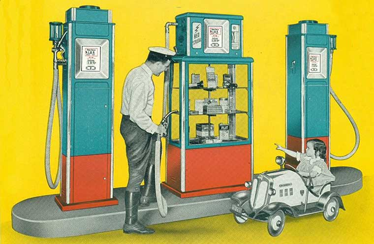 Gilbarco Island Store Deluxe Gasoline Pump | The Old Motor
