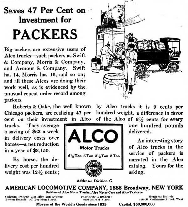 Vintage Antique Old Alco Motor Trucks