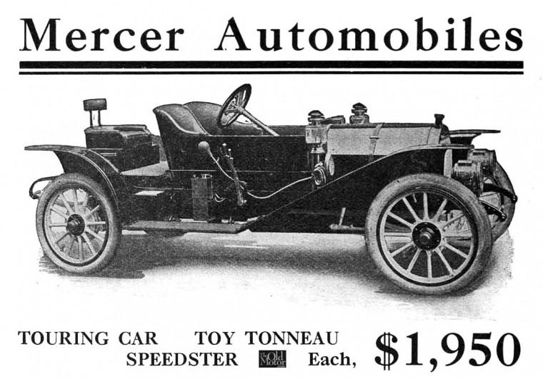 The 1910 model 30 mercer the pride of trenton new for Motor vehicle in trenton new jersey