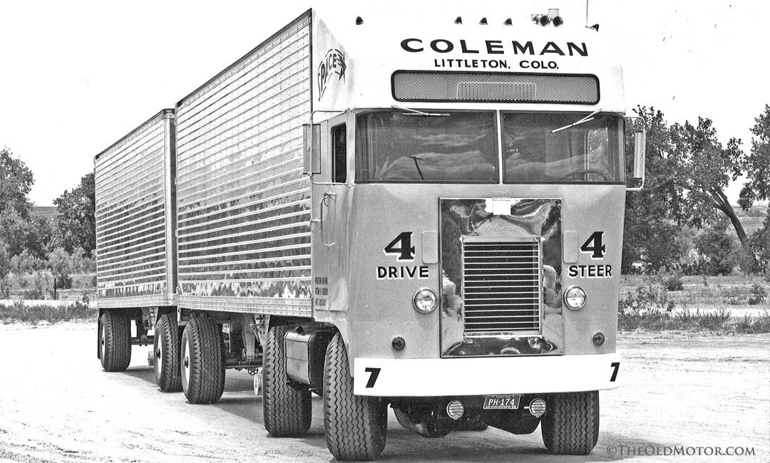 Coleman truck with Four Wheel Drive, Four Wheel Steer, and a Trailer