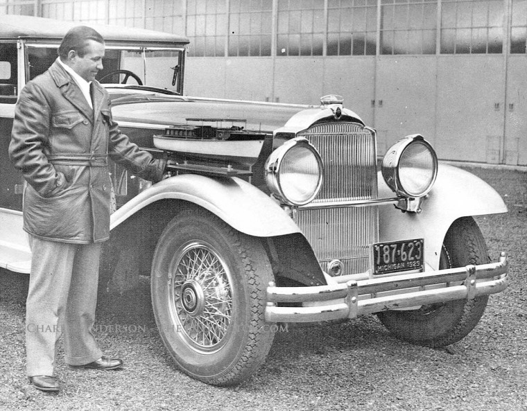 Warren Packard with the experimental Packard Straight Twelve