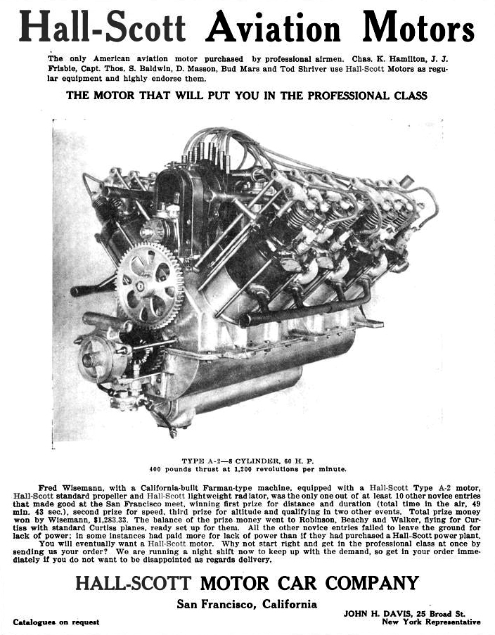 Hall-Scott A-2 V-8 Aviation Engine