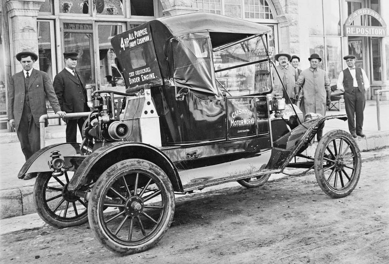 1912 Model T Ford Torpedo and a Cushman Engine