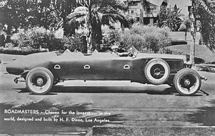 The Longest Car in the World Designed and Built by H.F. Dixon