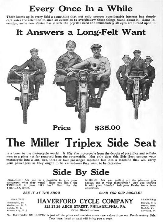 Miller Triplex Side Seat