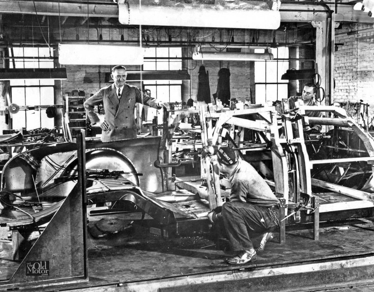 limousine body being built at Henney