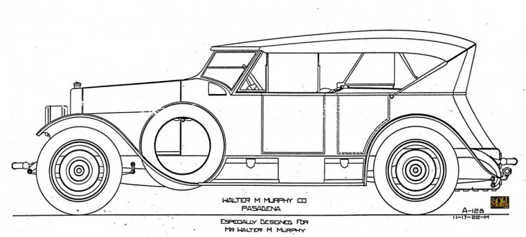 Walter M. Murphy Doble Steamcar design by E.W. Miller
