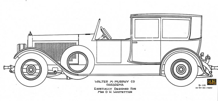 Walter M. Murphy Doble Steam Car design by E.W. Miller
