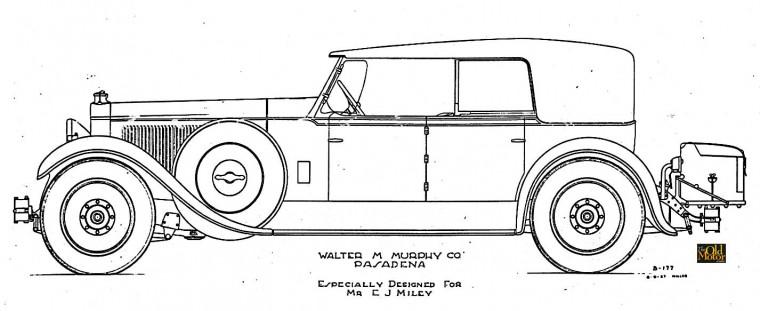 19127 Packard Walter M. Murphy design by E.W. Miller