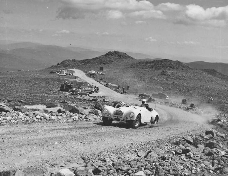 An Allard climbs Mount Washington in the 1950s