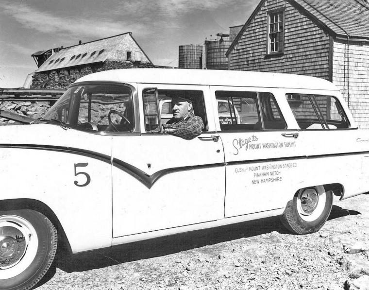 1955 Ford Station Wagon on Mountain Washington