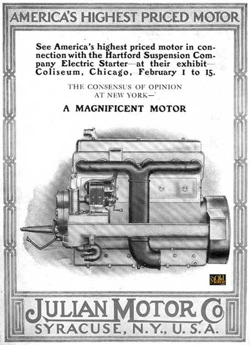 "Julian S. Brown's ""America's Highest Priced Motor."""