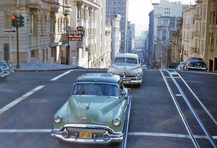 San Francisco  Street scene 1955