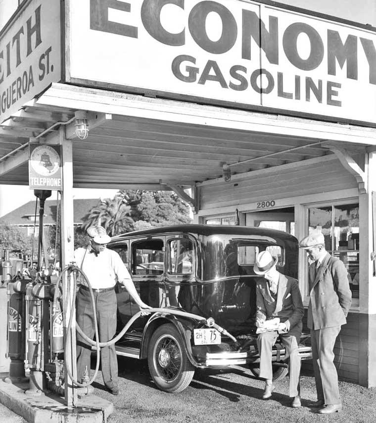 old vintage gasoline station antique gas pumps