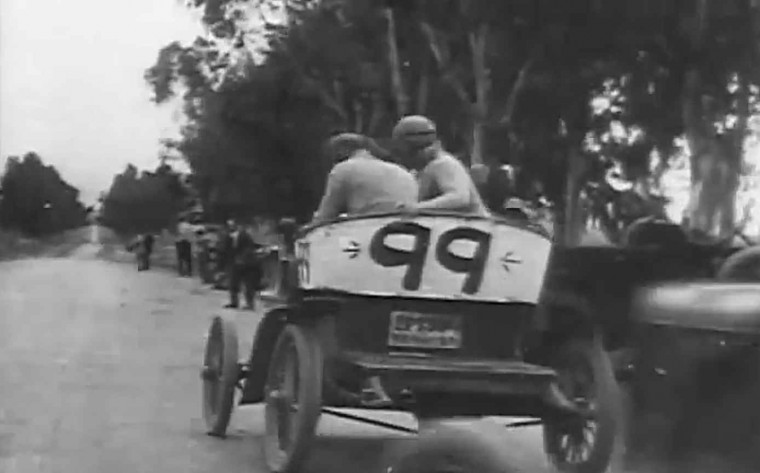 The Speed Demon:1912 Auto Race Starring Max Sennett