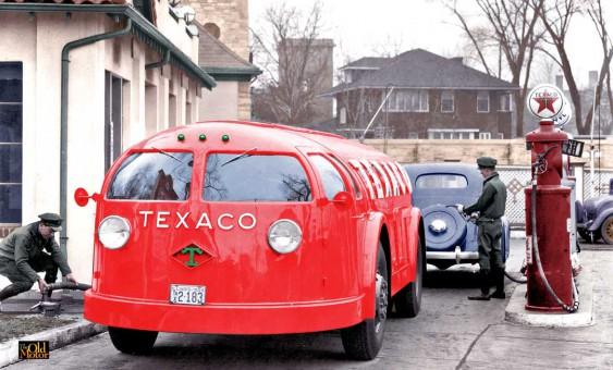 Texaco's Futuristic Streamlined Doodlebug Tank Trucks