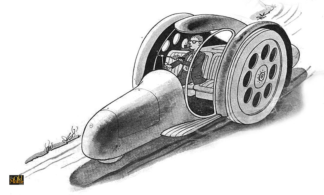 Frank Lloyd Wright's Futurist 1950s Road Machine