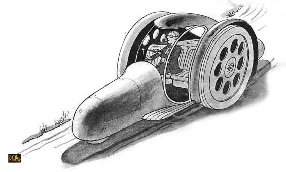 Frank Lloyd Wright's Futurist 1950s Road Machine
