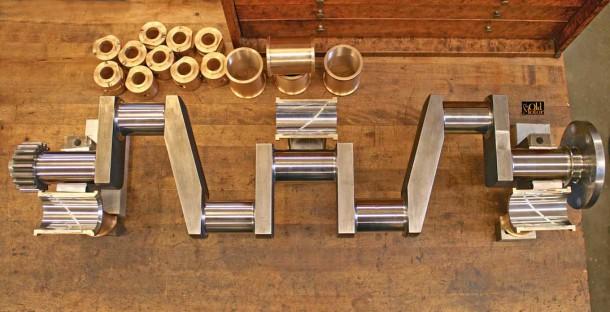 1914 Simplex Crankshaft and babbitted main bearings
