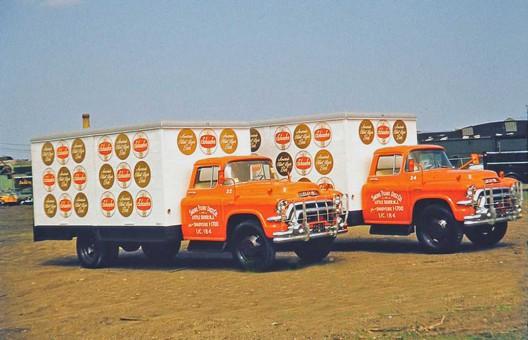 1957 GMC Schaefer Beer Trucks