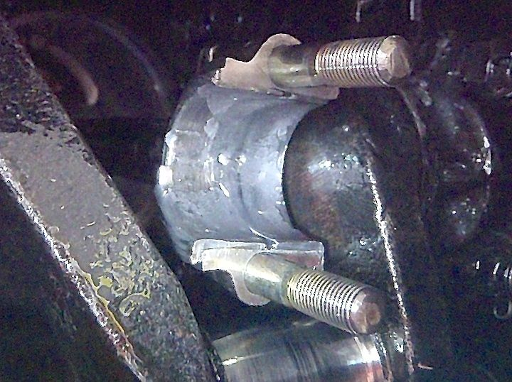 Burned out Model  T Ford rod bearing