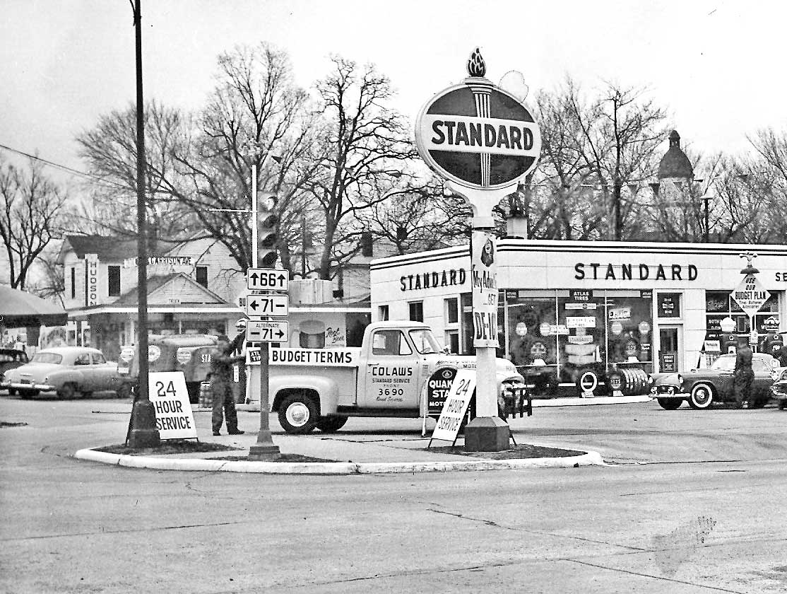 Colaw S Standard Service Station Route 66 Carthage