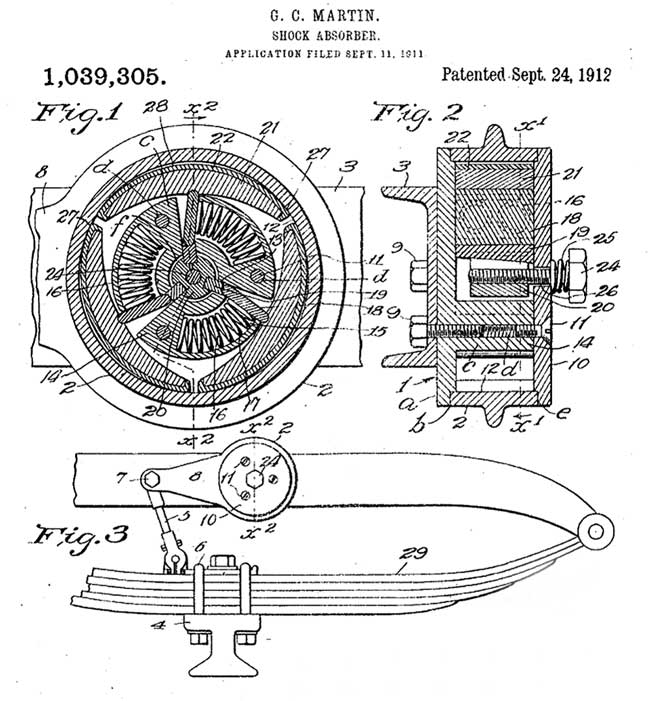martin Shock absorber patent