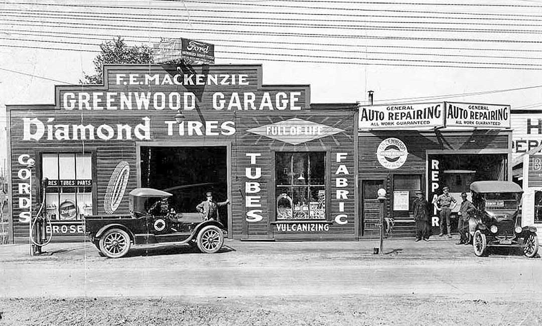Hooch and Gasoline For Sale at the Greenwood Garage   The Old Motor
